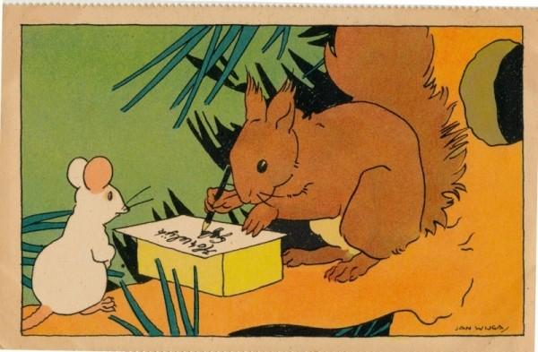 pc schrijvende eekhoorn HG